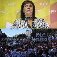 Patricia Bullrich advirtió que habrá represión si hay otra protesta de las organizaciones sociales